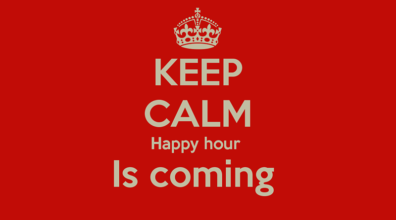 Happy Hour ce soir!